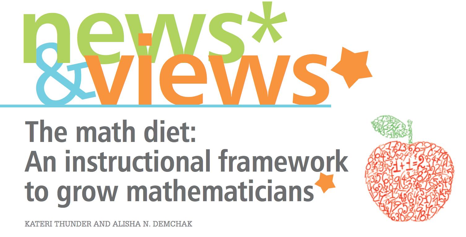 The Math Diet in Teaching Children Mathematics
